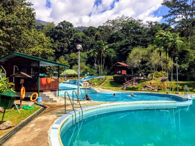 Swimming pool at Poring Hot Springs, Borneo, Malaysia