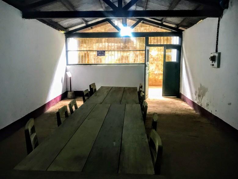 Meeting room, Vieng Xai caves, Laos