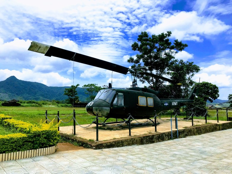 Army helicopter at Khe Sanh Combat Base, Vietnam