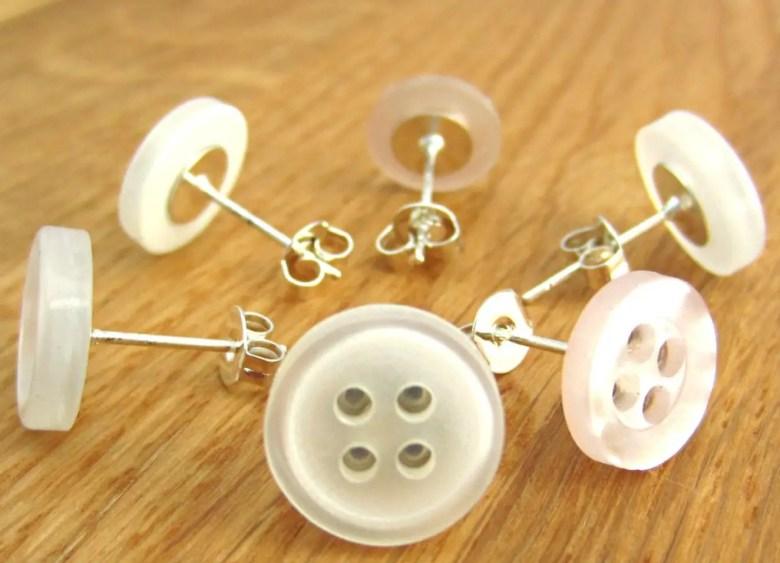 Button earrings by FrankieAndTheButtons
