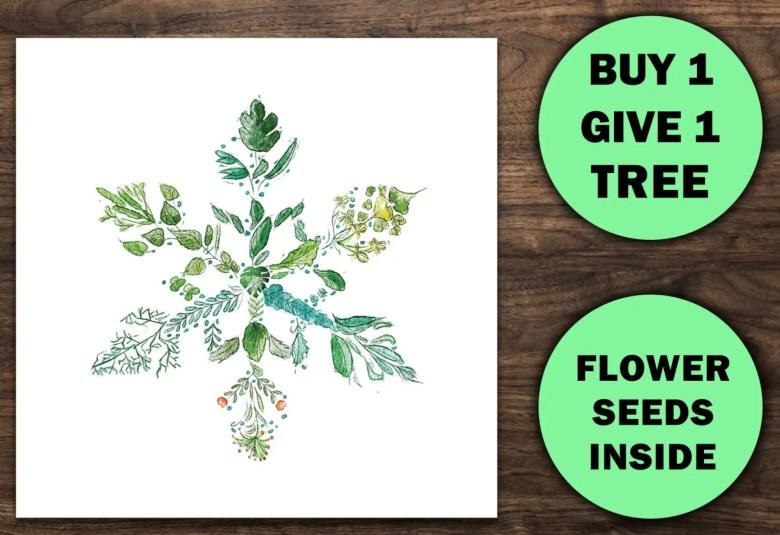 Plantable Christmas card, 1TreeCards