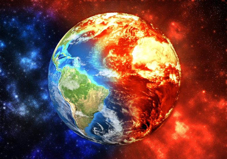 Planet Earth on fire, iStock