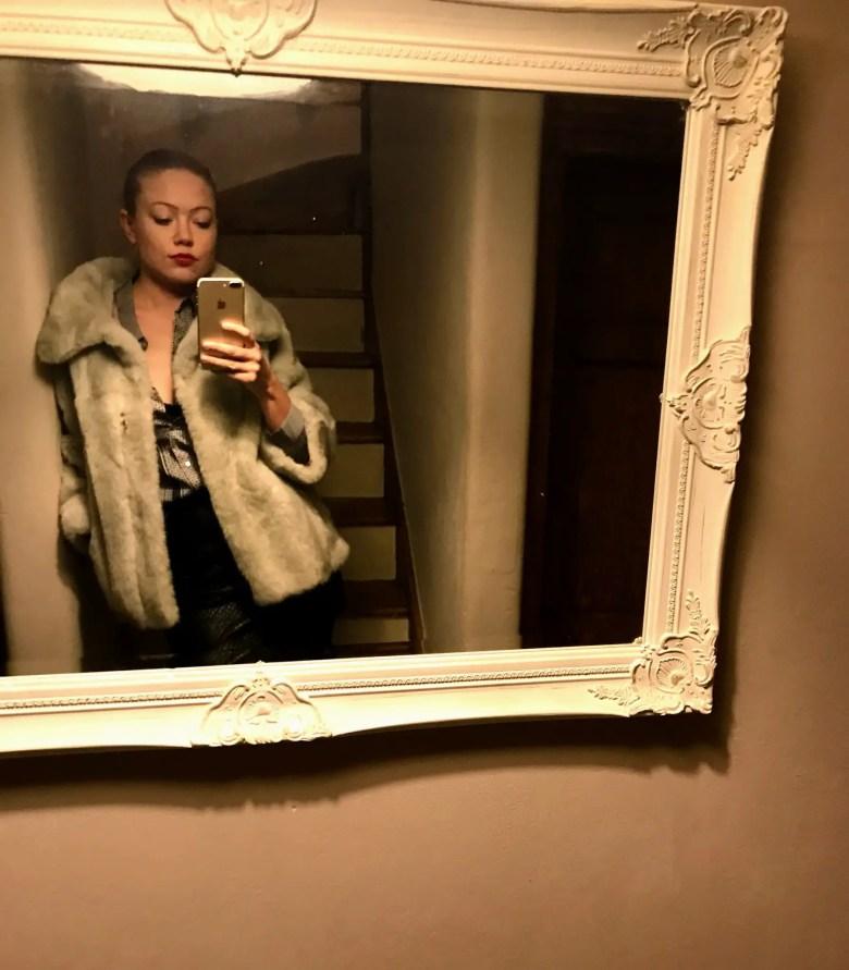 Secondhand faux fur coat