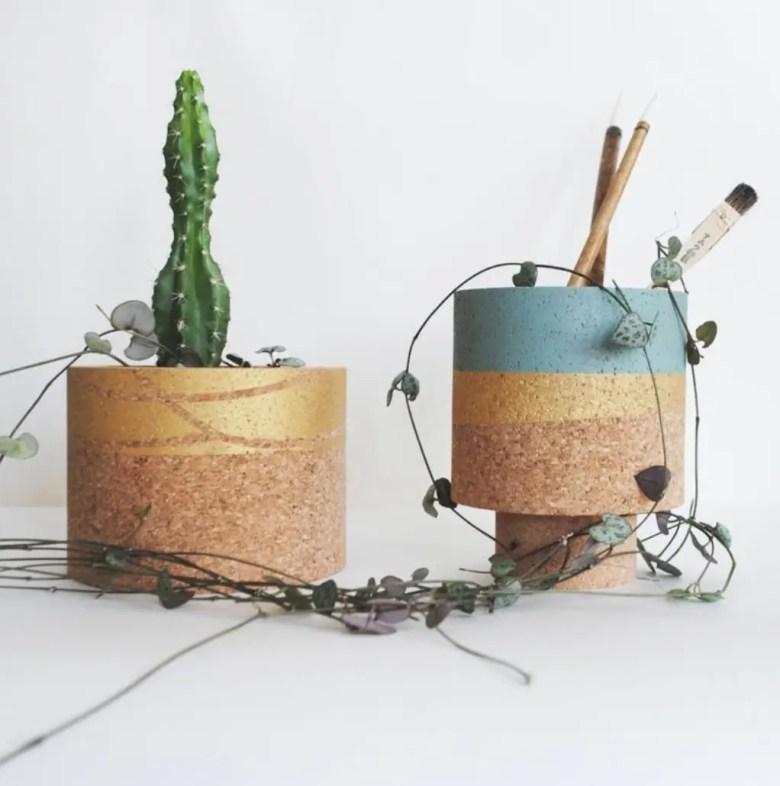 Cork planters, Etsy UK