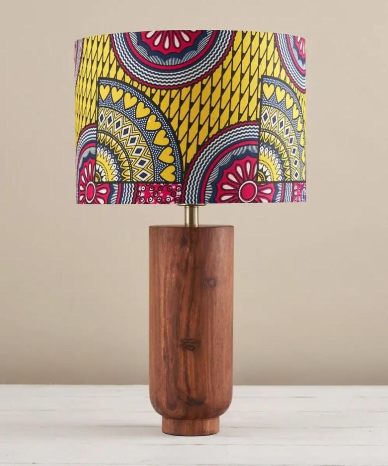 African wax print lampshade, Etsy UK