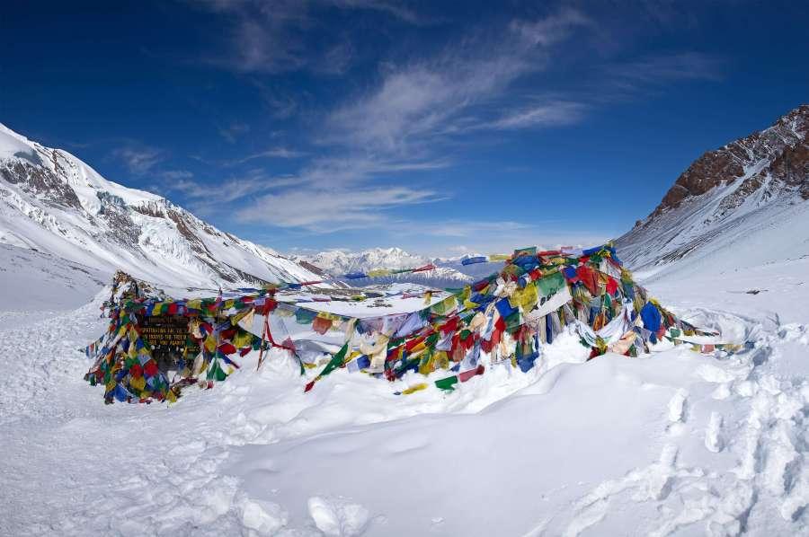 A breathtaking view of Thorong La Pass