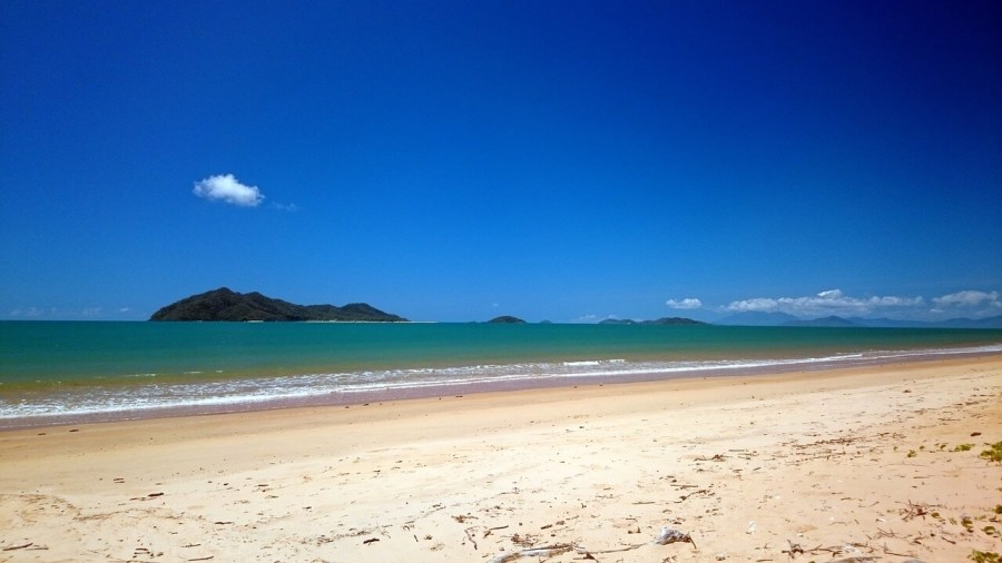 A shot of the peaceful and relaxing mission beach in Australia. One of the best beaches in Australia