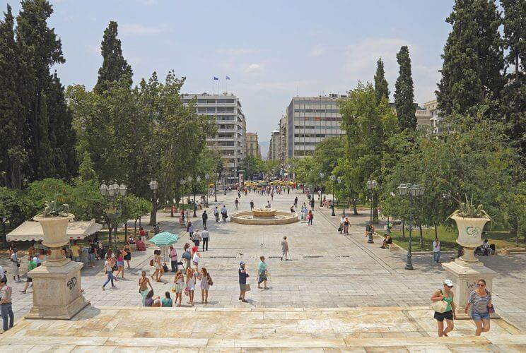 Syntagma square in Athens is one of the most happening places in Athens during festivals