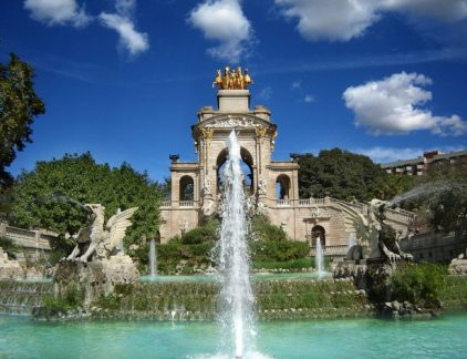 An image of the famous Farque de la ciudadela In Barcelona