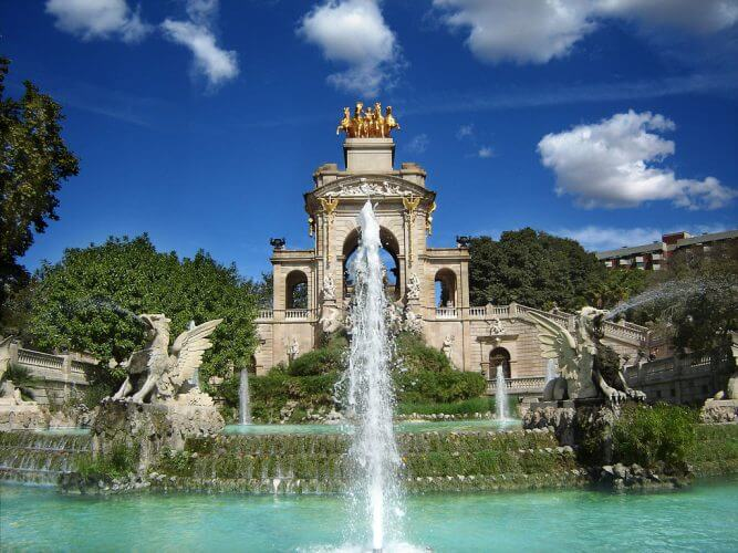 An image of the famous Parque de la ciudadela In Barcelona