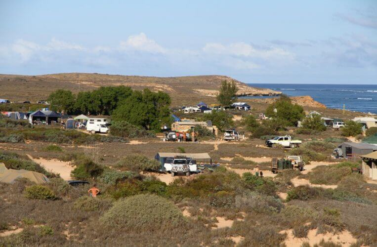 A shot of the 3 mile campsite in Gnaraloo Station.