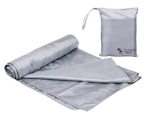 An image of the friendly swede camping bag liner