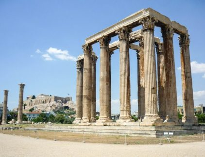 A picture of the temple of the Olympian zeus