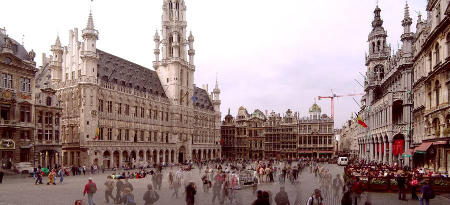 A view of La Grand Place in Brussels, which also happens to be a world heritage site