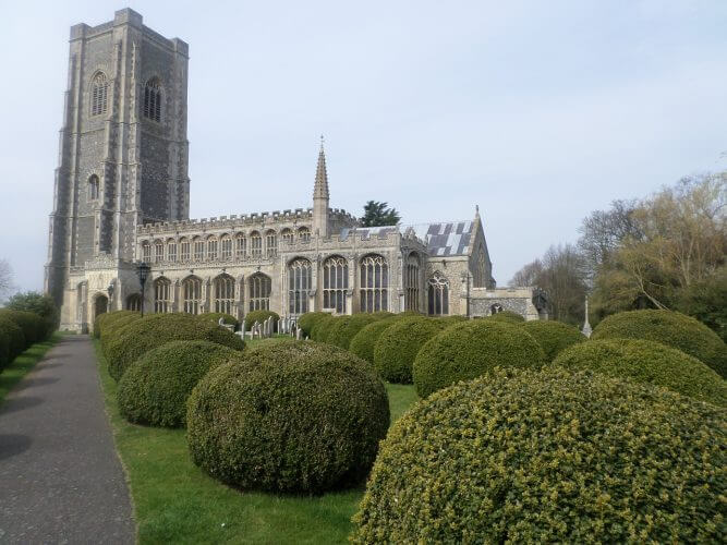 A shot of lavenham church in Britain