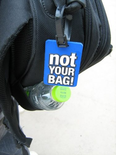 An image of one of the best luggage tags due to its uniqueness