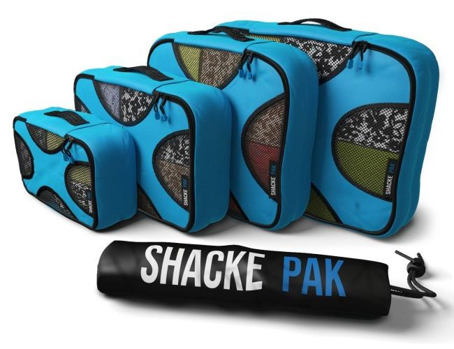 An image of a set of 4 packing cubes by shacke pak