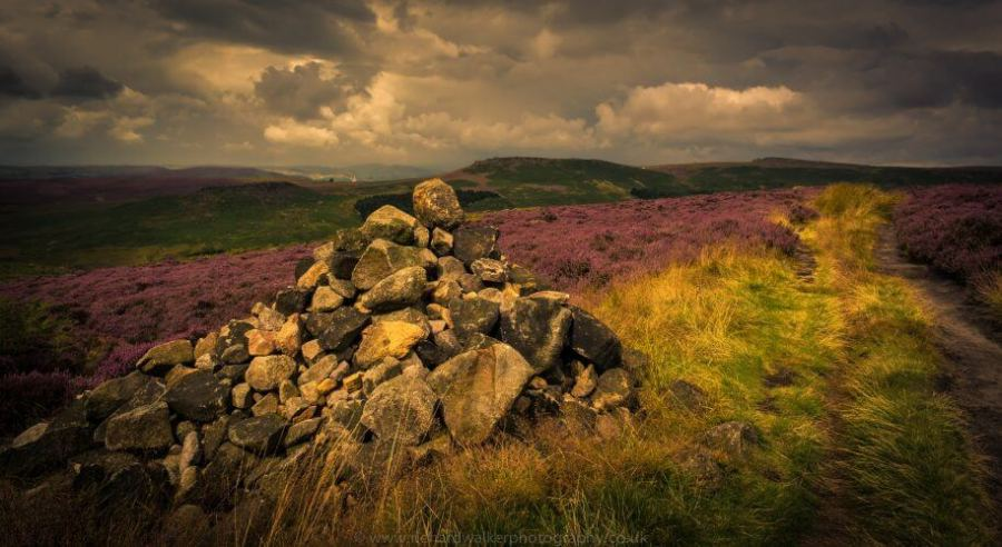 A stunning image of the Peak district park landscape in the UK