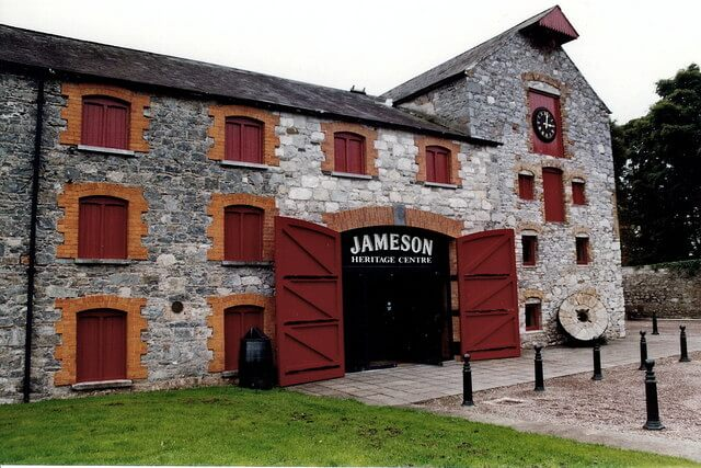 A view of the famous Jameson Distillery in Ireland