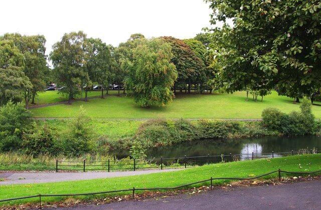 A shot of the phoenix garden in phoenix park, Dublin