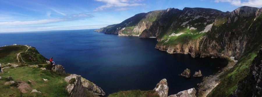 A breathtaking panoramic image of Slieve League in Ireland