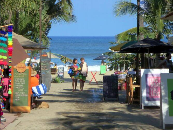 A shot of a couple sampling the hipster life that Sayulita in Mexico offers