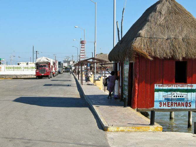 A shot of the road leading to the ferries which take you to the magical Isla Holbox