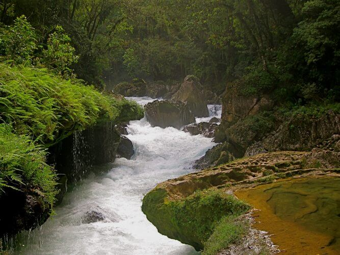 An image of the trail from Lanquin to Semuc Campey