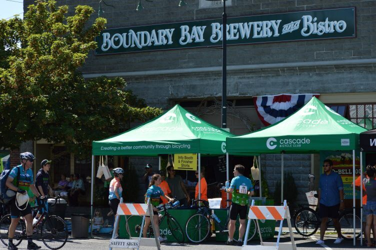 The boundary bay brewery as seen during the redbell 100 a fundraising event