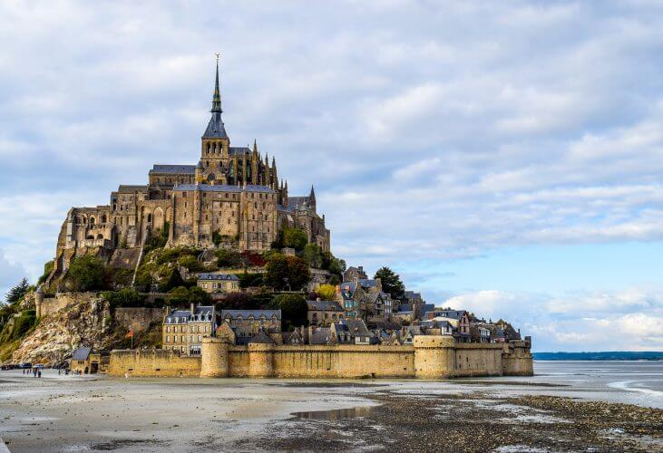 The enchanting Mont Saint Michel is pictured here.