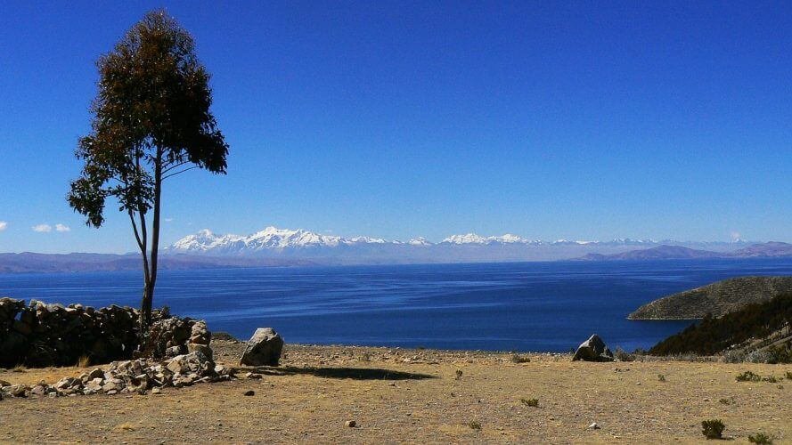 This is the view after climbing Isla del sol in Bolivia