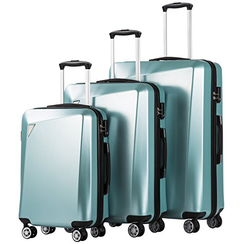 10. Coolife Luggage 3 Piece Sets