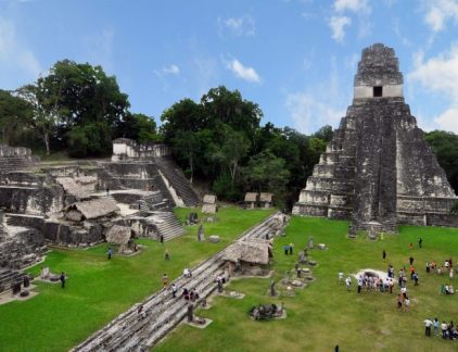Tikal ruins during the day