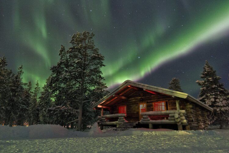 Aurora lights are shown here