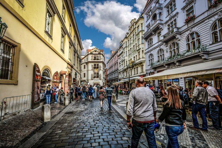 Travelers in Prague