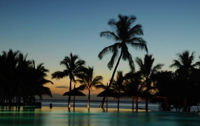 Sunset at Mauritius aka Paradise