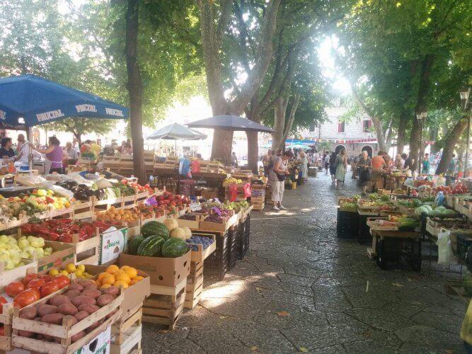 An image of the markets in Trebinje