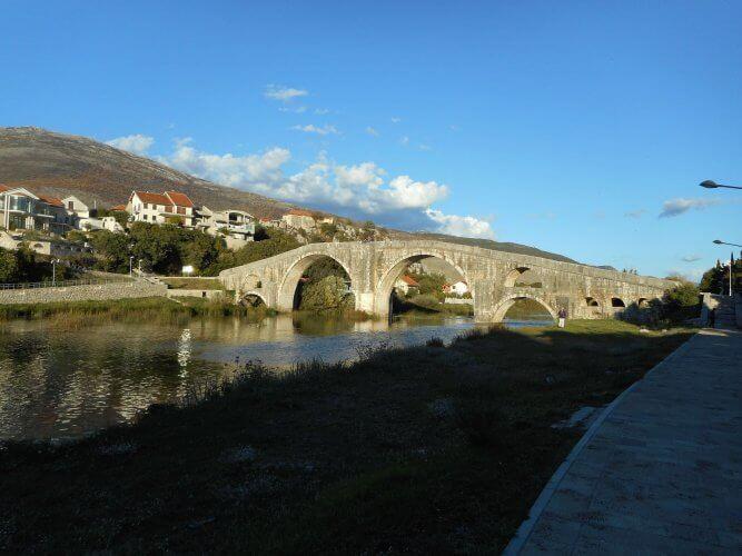 An image of the Trebisnijca River