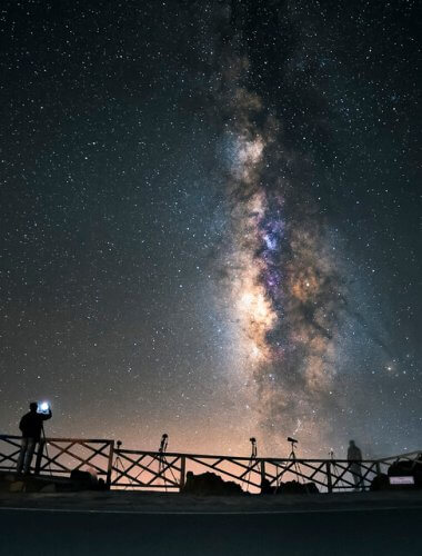An image of the sky over La Palma in the Canary Islands