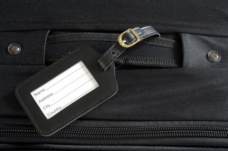 an image of a suitcase name tag