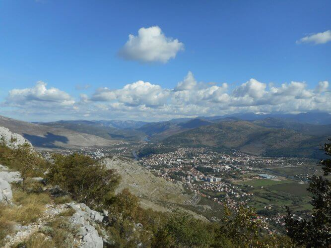 Trebinje and its surroundings are shown here