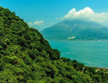 View from Sengan-em at Kagoshima-shi