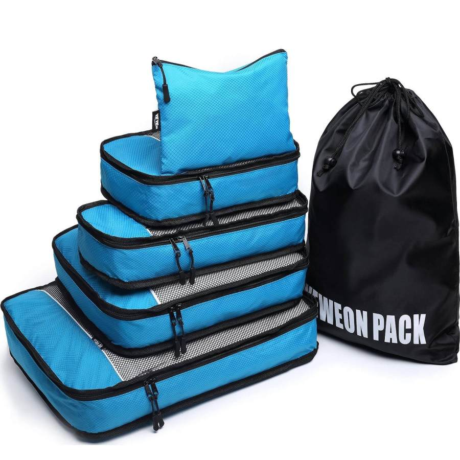 10. Weweon - 6 Set Packing Cubes