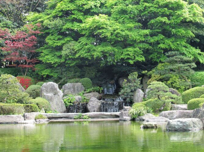 An image of the Japanese garden in fukuoka
