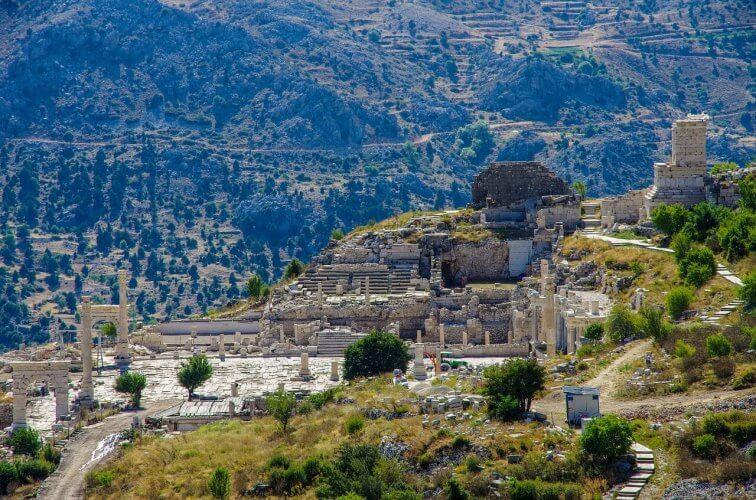 An image of the ancient city of sagalassos