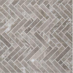 herringbone styx suede mosaic tile