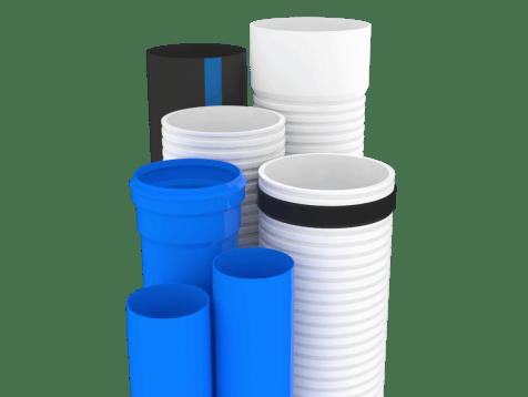 Simulación de tubería de distintos tipos y calibres