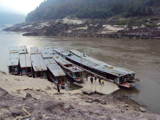 Anlegestelle am Mekong