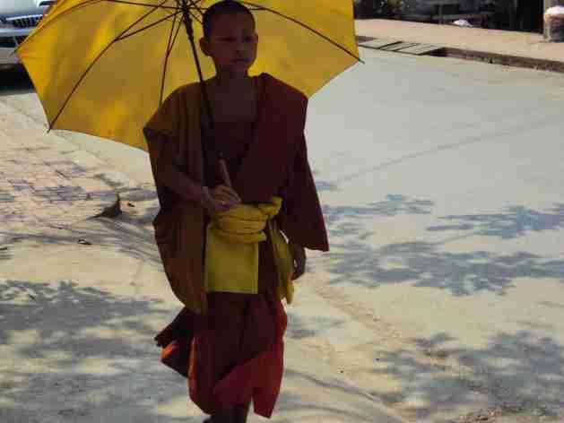 Samanera in Luang Prabang
