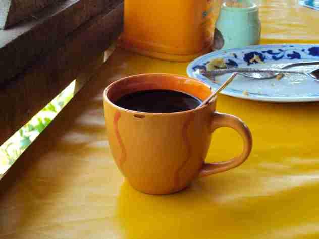 Frühstück mit Kaffee Nom